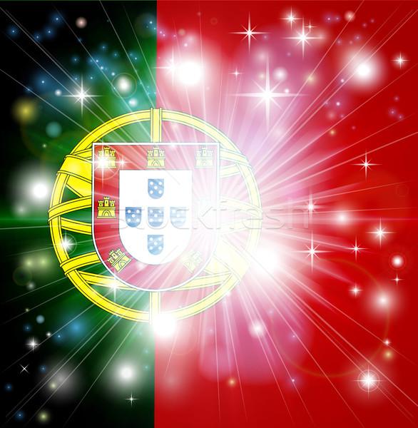 Portuguese flag background Stock photo © Krisdog