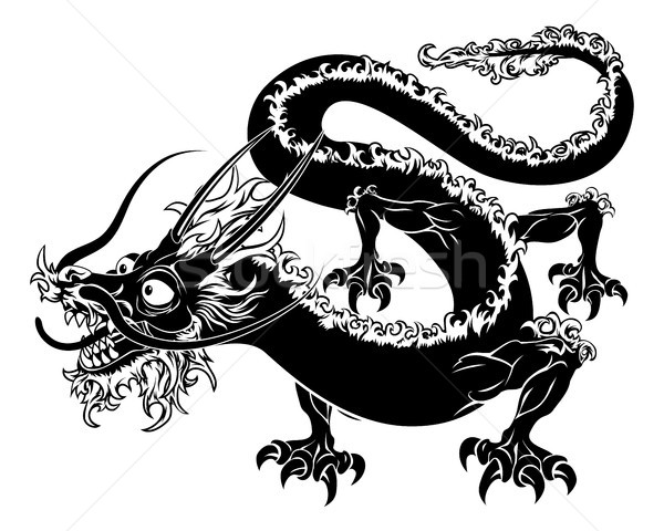 Stylised dragon illustration Stock photo © Krisdog