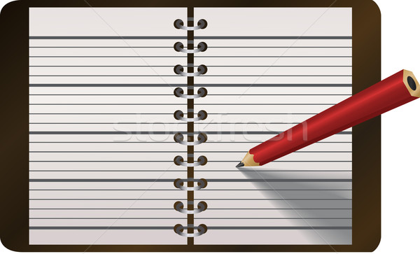 Stock photo: Pencil writing in diary vector illustration