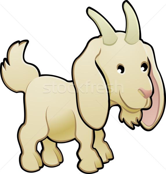 Cute Goat Farm Animal Vector Illustration Stock photo © Krisdog