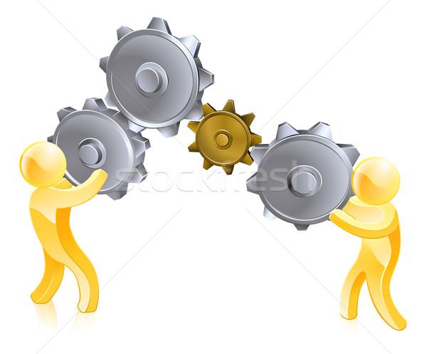 Turning gears Stock photo © Krisdog