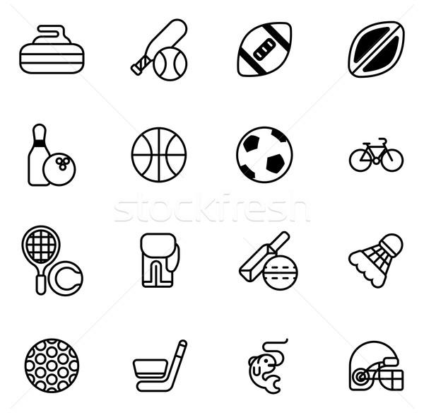 Sports icons set Stock photo © Krisdog