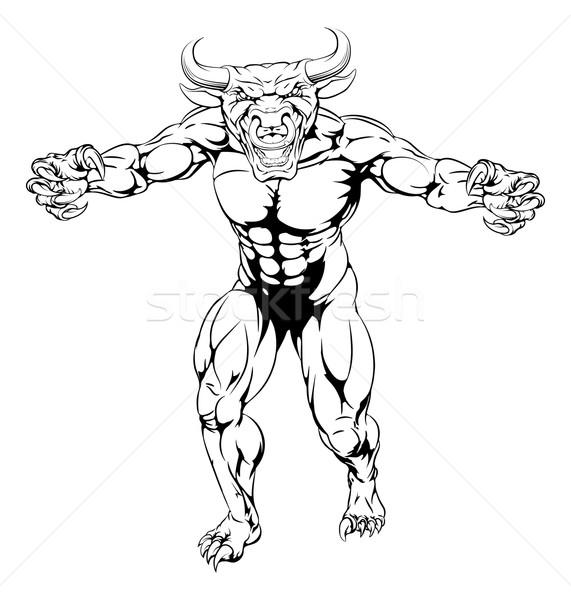 Bull mascot Stock photo © Krisdog