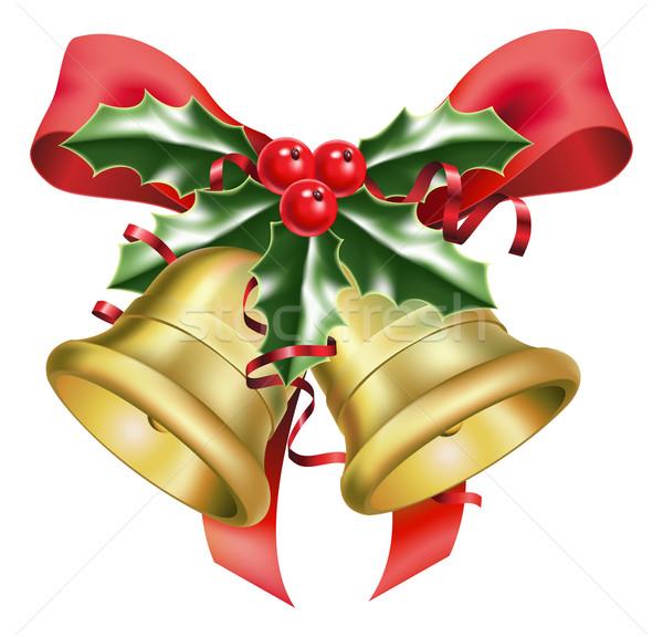 festive bells and bows  Stock photo © Krisdog