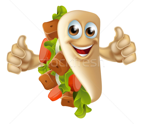 Kebab Mascot Character Stock photo © Krisdog