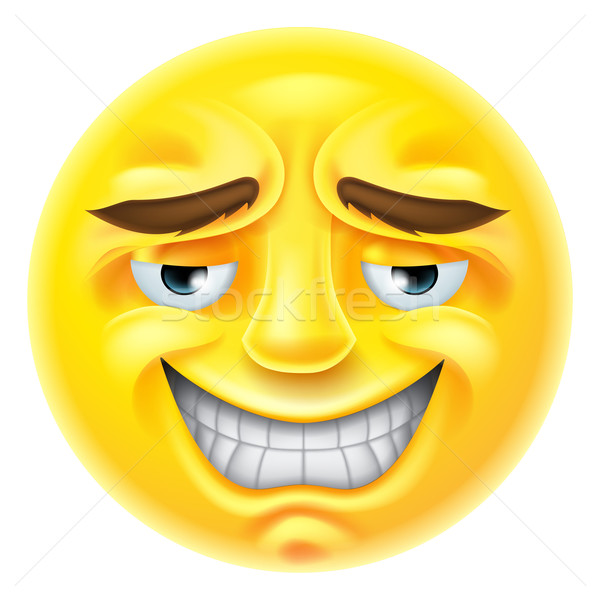 Smiling Emoji Emoticon Stock photo © Krisdog