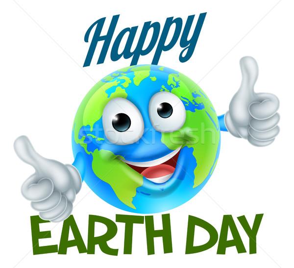 Boldog föld napja rajz földgömb kabala terv Stock fotó © Krisdog