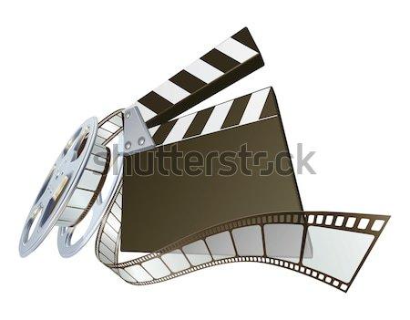 Film Clapperboard And Movie Film Reel Vector Illustration Christos