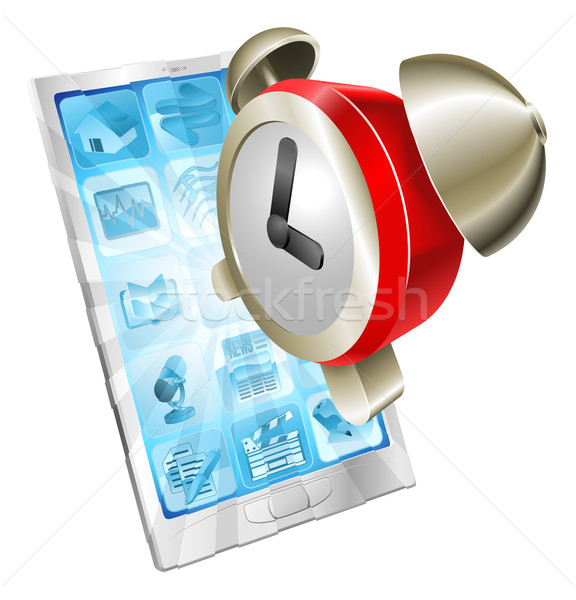 Despertador ícone telefone fora telefone móvel tela Foto stock © Krisdog