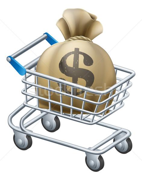 Money shopping cart trolley Stock photo © Krisdog