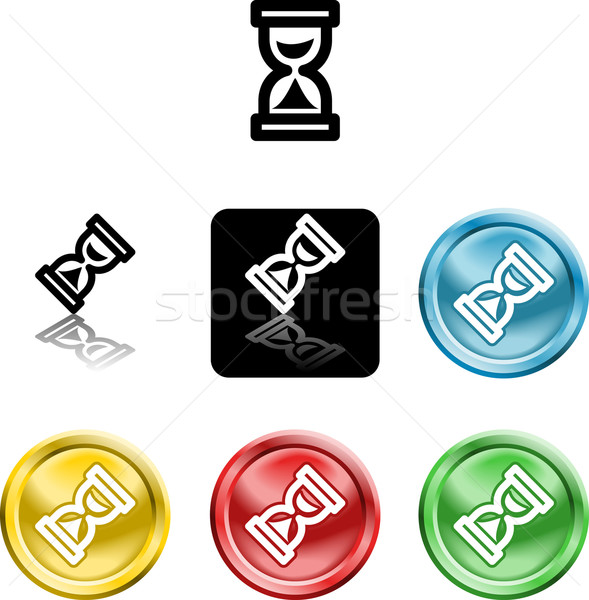 hour glass icon symbol Stock photo © Krisdog