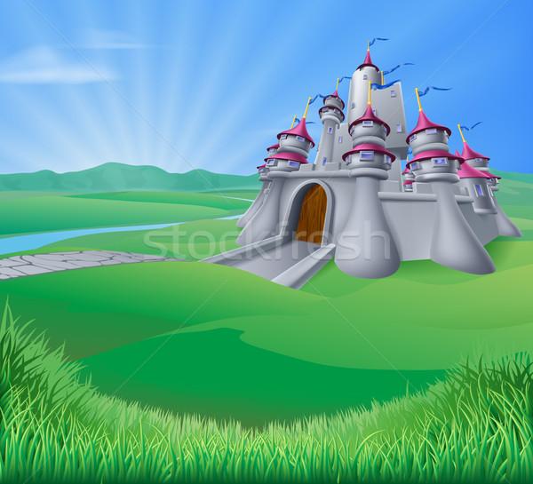 Castle Landscape Illustration Stock photo © Krisdog