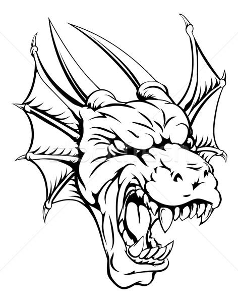 Dragon mascot Stock photo © Krisdog