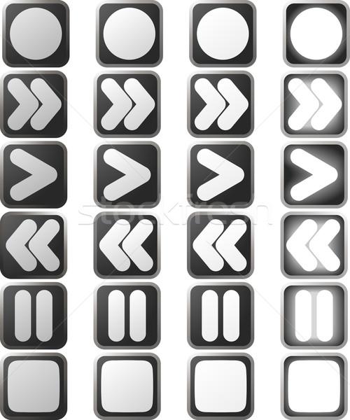 Clean White control panel icons and states Stock photo © Krisdog