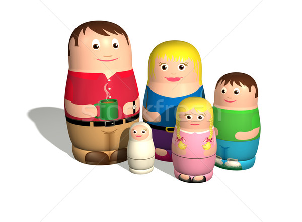 Russian doll family Stock photo © Krisdog