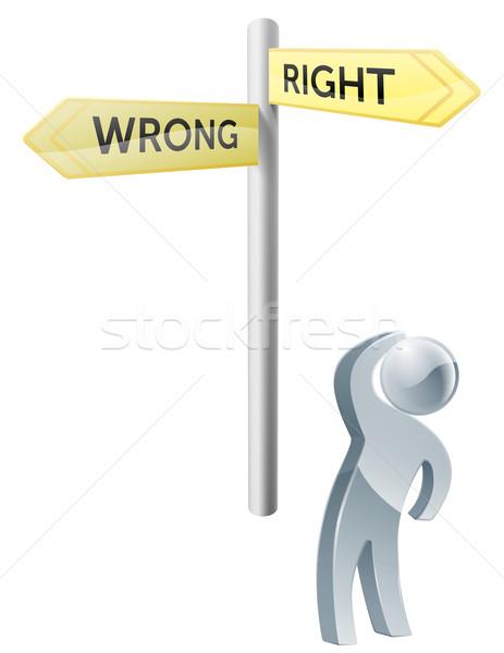 Right or Wrong choice Stock photo © Krisdog