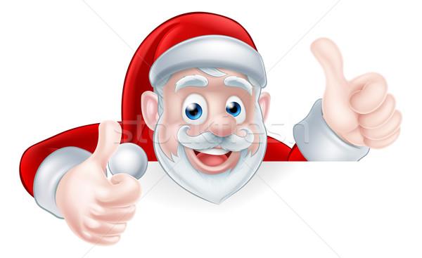 Thumbs Up Santa Stock photo © Krisdog