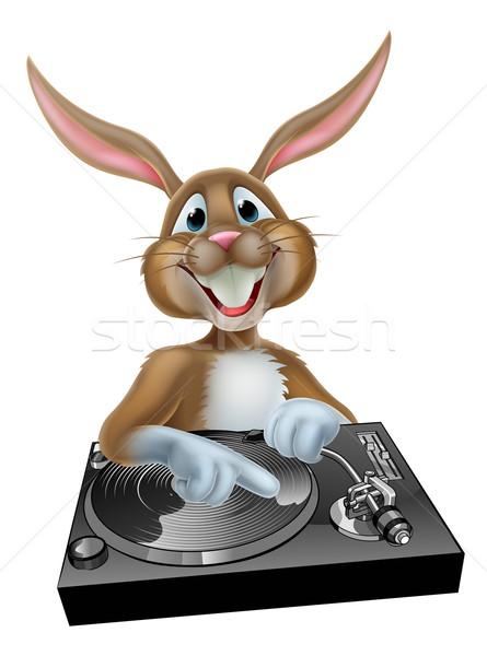 Cartoon Easter Bunny DJ Stock photo © Krisdog