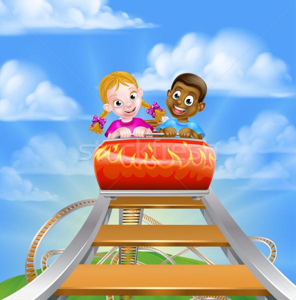 Roller Coaster Amusement Park Stock photo © Krisdog