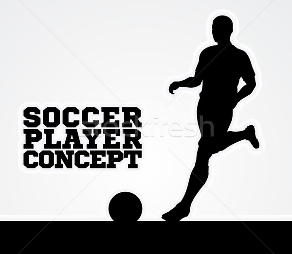 Silhouette Soccer Player Concept Stock photo © Krisdog