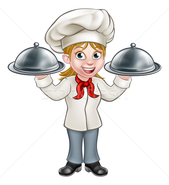 Woman Chef Cartoon Character Stock photo © Krisdog