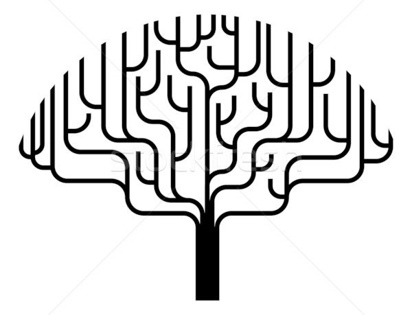 Abstract tree silhouette illustration Stock photo © Krisdog
