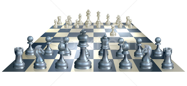 Game of chess illustration Stock photo © Krisdog