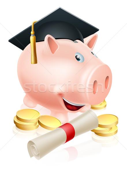 Saving for career piggy bank Stock photo © Krisdog