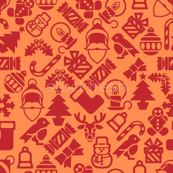 Seamless Modern Christmas Background Pattern Stock photo © Krisdog