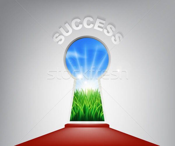 Success Keyhole Concept Stock photo © Krisdog