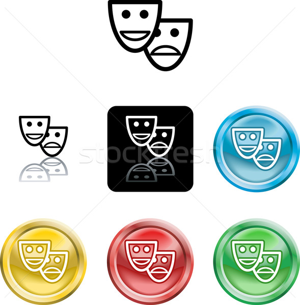 Stylised comedy and tradgedy masks Stock photo © Krisdog