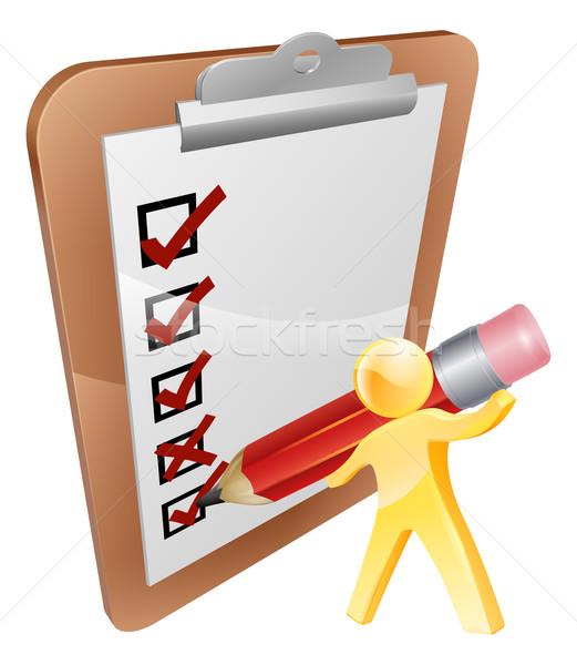 Clip board person Stock photo © Krisdog