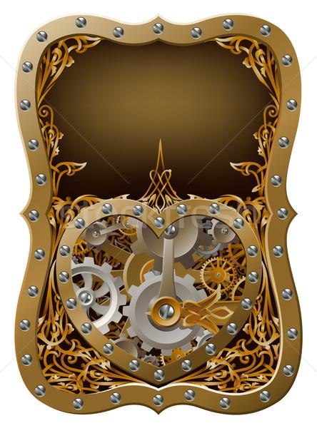Machine clockwork gears heart concept Stock photo © Krisdog