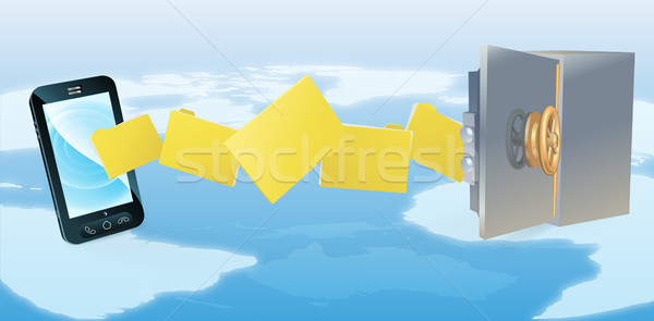 Cell phone safe secure transfer backup Stock photo © Krisdog