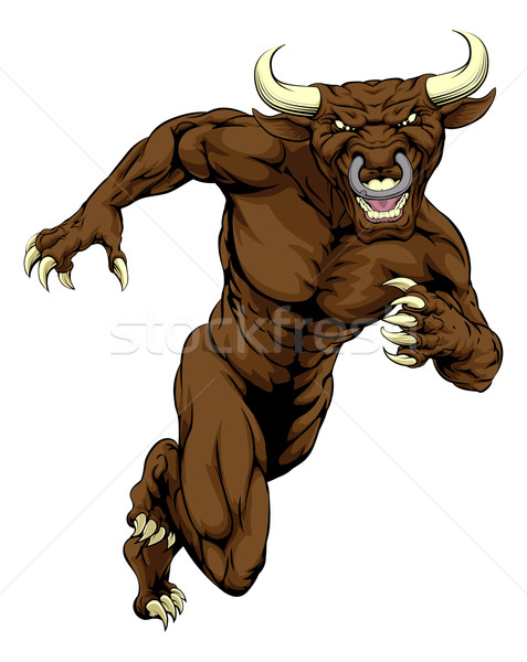 Sprinting bull mascot Stock photo © Krisdog