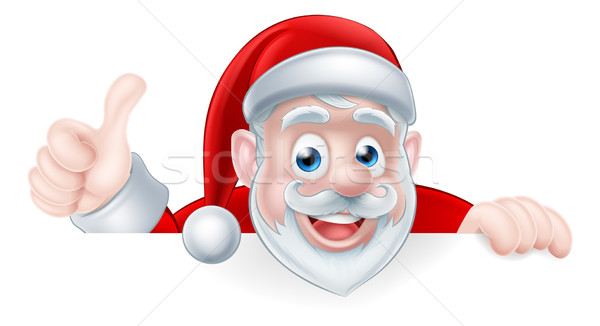 Cartoon Santa Thumbs Up Stock photo © Krisdog