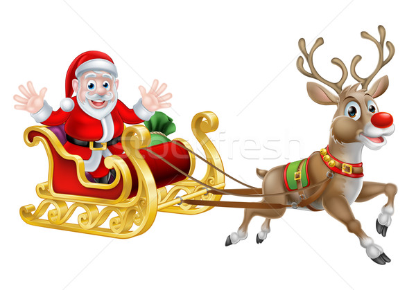 Santa Christmas Sleigh Stock photo © Krisdog