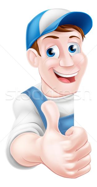 Thumbs Up Plumber or Mechanic Stock photo © Krisdog