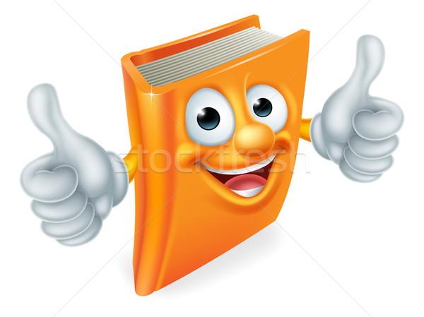 Rajz könyv rajzfilmfigura oktatás kabala dupla Stock fotó © Krisdog