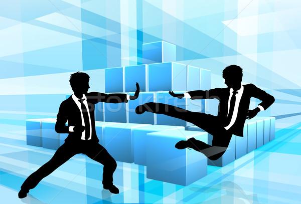 Foto stock: Pessoas · de · negócios · competição · artes · marciais · karatê · estilo