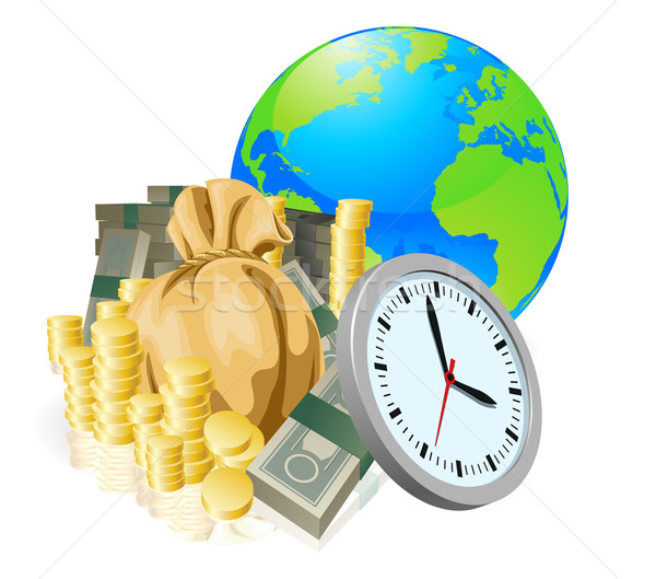 World globe money time business concept Stock photo © Krisdog