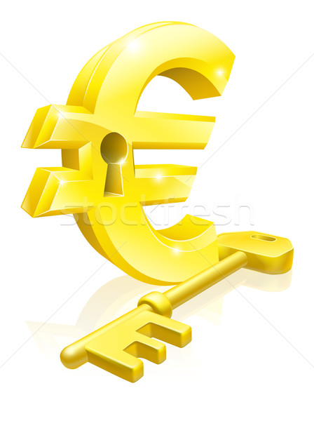 Euro key lock concept Stock photo © Krisdog
