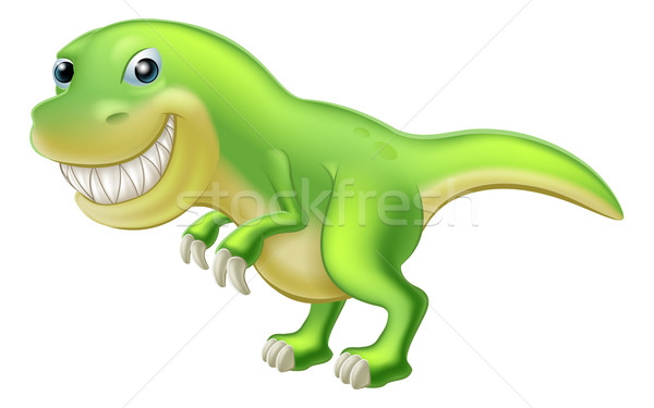 T Rex Cartoon Dinosaur Stock photo © Krisdog