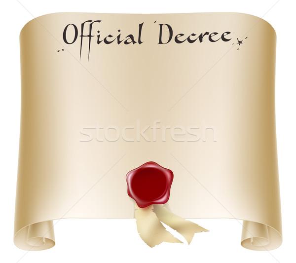 Official certificate scroll Stock photo © Krisdog