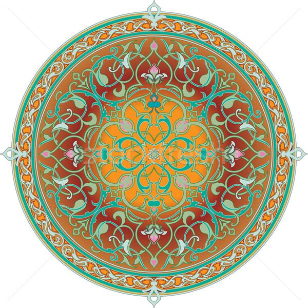 アラビア語 フローラル パターン モチーフ 自然 デザイン ストックフォト © Krisdog