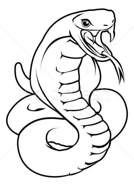 Stock photo: Stylised snake illustration