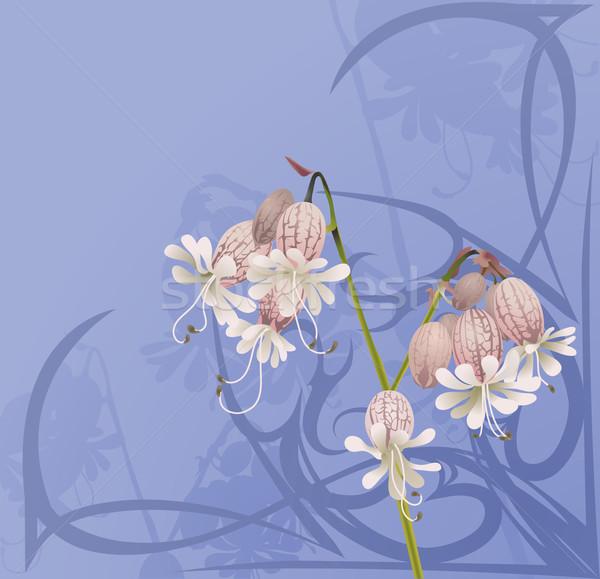 Belo flor art noveau flores projeto Foto stock © Krisdog