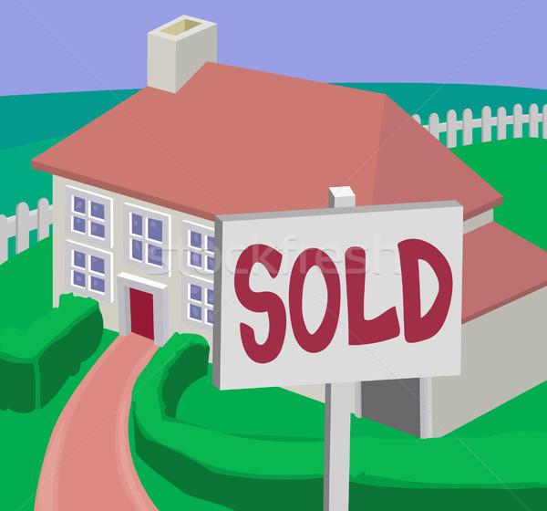 house illustration Stock photo © Krisdog