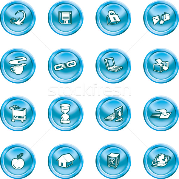 internet and Computing icons Stock photo © Krisdog