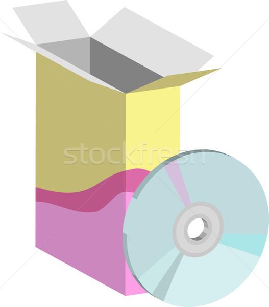 Software ilustração software de computador computador disco compacto recipiente Foto stock © Krisdog